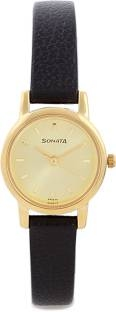 Sonata NH8976YL01CJ Analog Gold Dial Women's Watch (NH8976YL01CJ)
