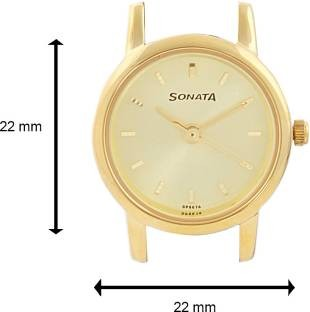 Sonata NH8976YL01CJ Analog Gold Dial Women's Watch