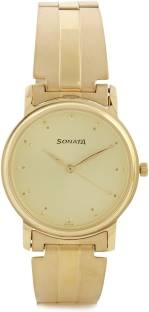 Sonata NF1013YM24 Analog Gold Dial Men's Watch