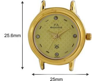 Maxima 07157CMLY Analog Gold Dial Women's Watch (07157CMLY)