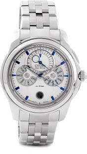 Citizen Eco-Drive BU0011-55A Analog White Dial Men's Watch (BU0011-55A)