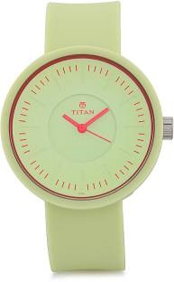 Titan Youth 9953PP04J Analog Green Dial Women's Watch (9953PP04J)
