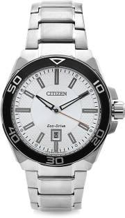 Citizen Eco-Drive AW1190-53A Analog Silver Dial Men's Watch (AW1190-53A)