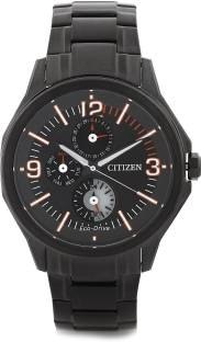 Citizen Eco-Drive AP4005-54E Analog Black Dial Men's Watch (AP4005-54E)