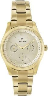 Titan Purple 9962YM01 Glam Gold Analog Watch