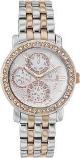 Titan 9743KM01E 9743KM01 Purple Glam Gold Analog Watch (9743KM01E)