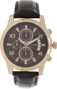 Guess W0076G4 Brown Round Analog Men's Watch (W0076G4)
