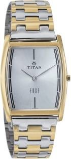Titan Edge NH1044BM02 Analog White Dial Men's Watch (NH1044BM02)