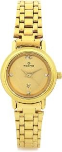 Maxima 07161CMLY Formal Gold Analog Gold Dial Women's Watch