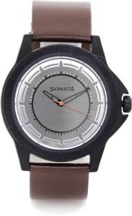 Sonata NH77018PL01CJ Analog Grey Dial Men's Watch