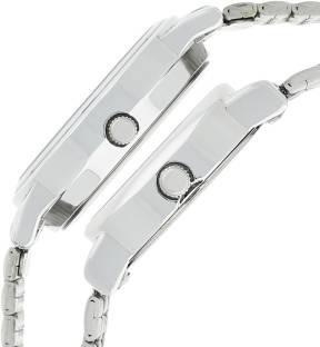 Sonata 11418100SM01 Analog Black Dial Wedding Couple Watch