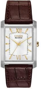 Citizen Eco-Drive BM6789-02A Analog White Dial Men's Watch (BM6789-02A)
