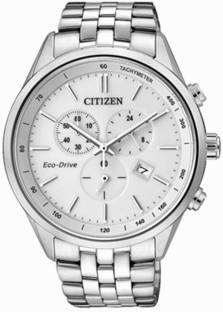 Citizen Eco-Drive AT2140-55A Analog White Dial Men's Watch