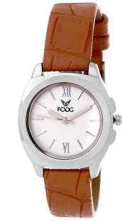 Fogg 3031-BR Analog White Dial Women's Watch
