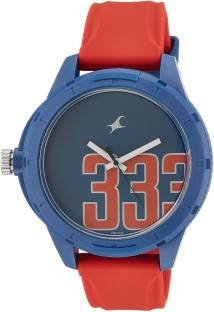 Fastrack 38019PP01J Tees Analog Blue Dial Unisex Watch (38019PP01J)