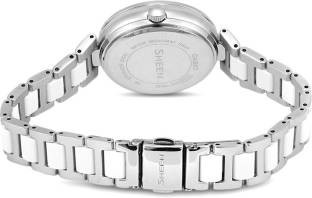 Casio Sheen SHE-3042D-7AUDR (SX158) Analog Silver Dial Women's Watch