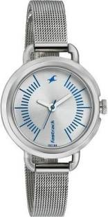 Fastrack NG6123SM02 Silver Dial Analog Women's Watch (NG6123SM02)
