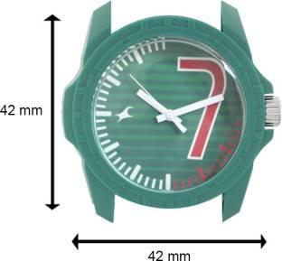 Fastrack 38018PP05CJ Tees Analog Green Dial Unisex Watch (38018PP05CJ)