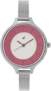 Fastrack 6122SM01 Analog Pink & Silver Toned Women's Watch