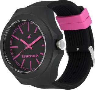 Fastrack 38004PP05 Analogue Black & Pink Dial Unisex Watch (38004PP05)