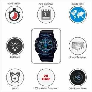 Casio G-Shock GA-100CB-1ADR (G625) Analog-Digital Blue Dial Men's Watch (GA-100CB-1ADR (G625))