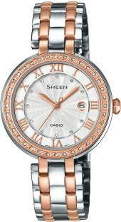 Casio Sheen SHE-4034BSG-7AUDR (SX156) Analog Silver Dial Women's Watch (SHE-4034BSG-7AUDR (SX156))