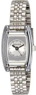 Sonata 8103SM02 Professional Analog Silver Dial Women's Watch (8103SM02)