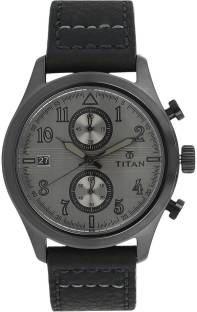 Titan 90052QL01J Spring Summer Analog Grey Dial Men's Watch (90052QL01J)
