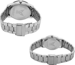 Fogg 5040-BK Analogue Black Dial Couple Watch (5040-BK)