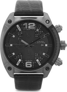 Diesel DZ4372 Overflow Analog Black Dial Men's Watch