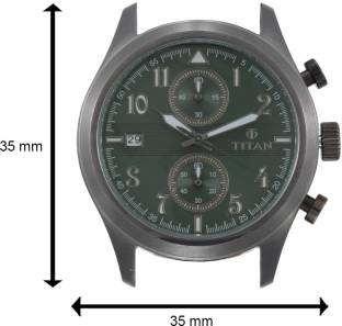 Titan 90052QL02J Spring Summer Analog Green Dial Men's Watch (90052QL02J)
