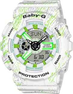 Casio Baby-G BA-110TX-7ADR (BX073) Analog-Digital White Dial Women's Watch (BA-110TX-7ADR (BX073))