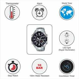 Casio Edifice ERA-600D-1AVUDF (EX354) Analog-Digital Black Dial Men's Watch (ERA-600D-1AVUDF (EX354))