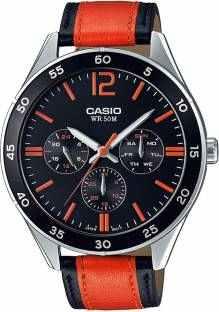 Casio Enticer MTP-E310l-1A2VDF (A1179) Orange Black Analog Men's Watch