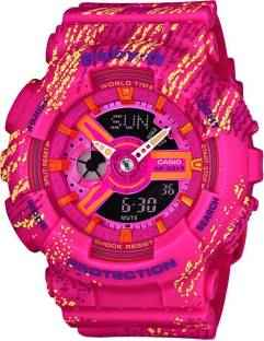 Casio Baby-G BA-110TX-4ADR (BX072) Analog-Digital Pink Dial Women's Watch (BA-110TX-4ADR (BX072))