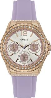 Guess W0846L6 Stone- Studded Dial Analog Women's Watch (W0846L6)