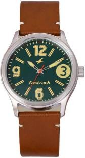 Fastrack 3001SL11 Analog Green Dial Men's Watch