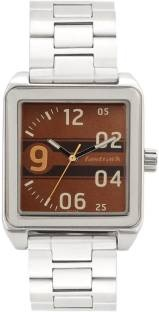 Fastrack 3164SM02 Bare Basics Analog Brown Dial Men's Watch (3164SM02)