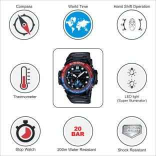 Casio G-Shock GN-1000-1ADR (G605) Analog-Digital Black Dial Men's Watch