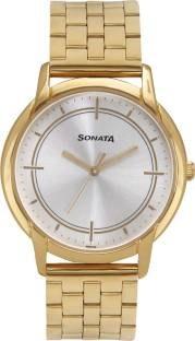 Sonata 77031YM05J Wedding Collection Analog Watch