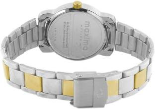 Maxima 43012CMLT Analog White Dial Women's Watch (43012CMLT)