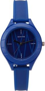 Sonata 87023PP02 Color Pop Analog Blue Dial Women's Watch