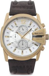 Diesel DZ4435I Silver Analog Watch For Men (DZ4435I)