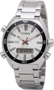 Citizen JM5460-51A Analog-Digital White Dial Men's Watch