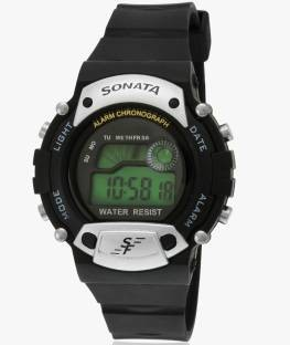 Sonata 7982PP02 Super Fibre Digital Grey Dial Men's Watch (7982PP02)