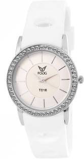 Fogg 3038- WH White Dial Women's Watch (3038-)
