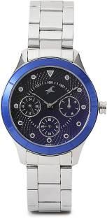 Fastrack 6163KM01 Analog Black Dial Women's Watch (6163KM01)
