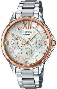 Casio Sheen SHE-3056SG-7AUDR (SH200) Analog Mother Of Pearl Dial Women's Watch (SHE-3056SG-7AUDR (SH200))