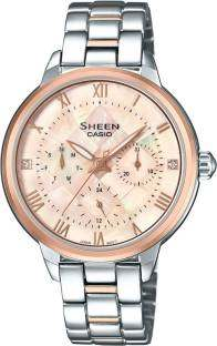 Casio Sheen SHE-3055SPG-4AUDR (SX193) Analog Mother Of Pearl Dial Women's Watch (SHE-3055SPG-4AUDR (SX193))