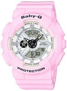 Casio Baby-G BA-110BE-4ADR (BX082) Analog Digital White Dial Women's Watch (BA-110BE-4ADR (BX082))